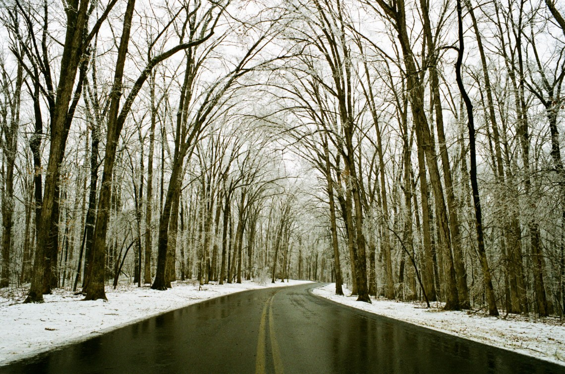 Snowy Day at Montgomery Bell State Park in Dickson County, Tennessee