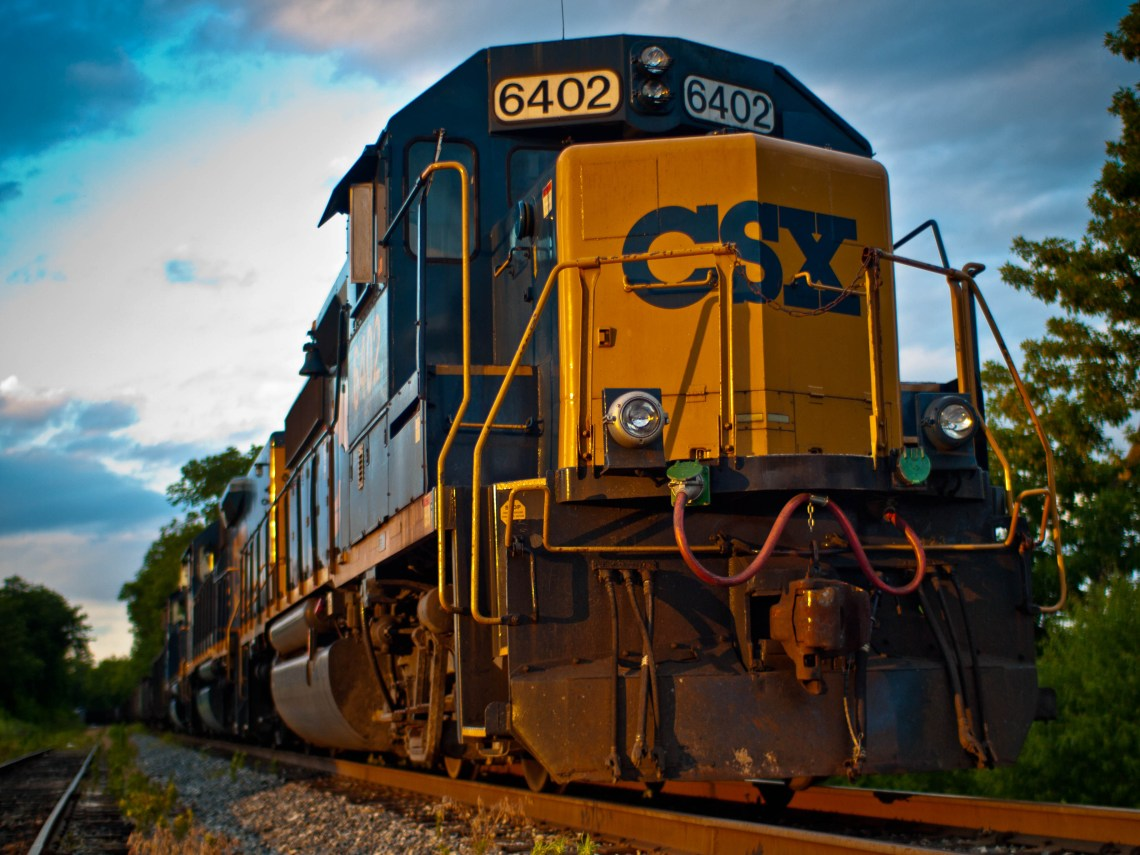 CSX Engine at the Train Depot in Spring Hill, Tennessee