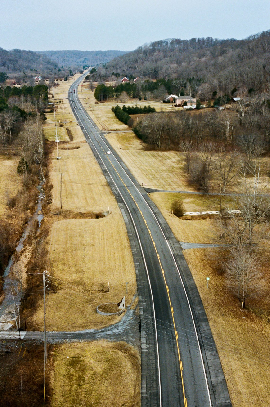 Highway 96 looking Northwest as seen from the Natchez Trace Bridge in Franklin Tennessee
