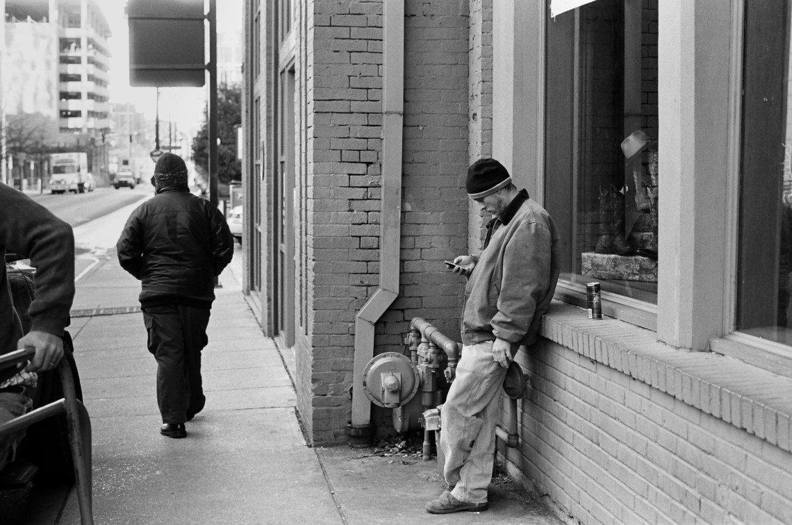 Nashville Street Photography. Shot on Kodak Trix-400 (35 mm Gelatin Silver)
