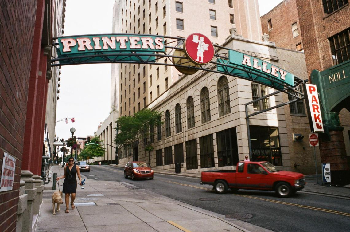 Printer's Alley Sign