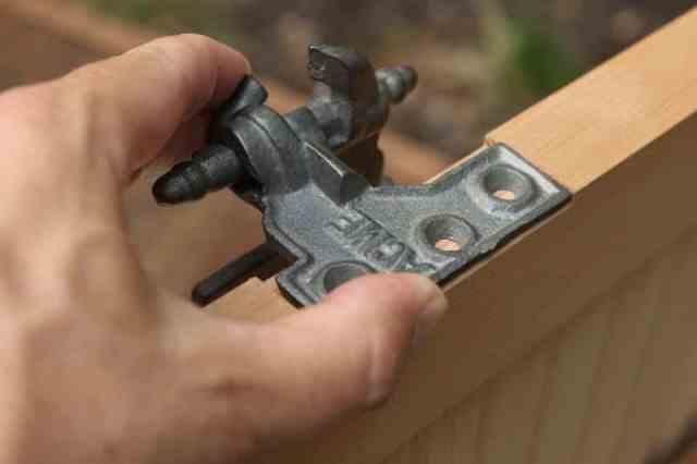 Acme Lull & Porter mortise hinge to install exterior shutters.
