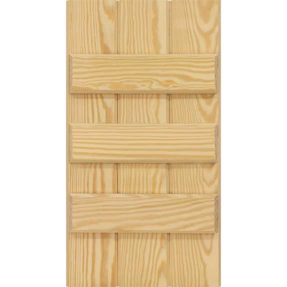 Economy wooden board and batten shutters with three battens.