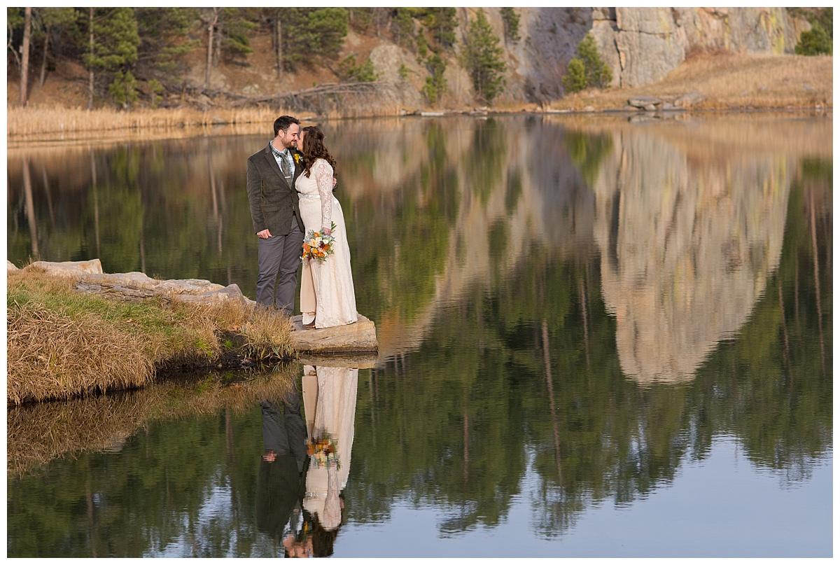 Lakota Lake Custer State Park Wedding Photographer