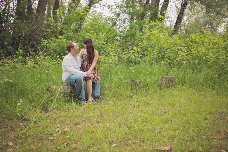 outdoor campus west engagement photos