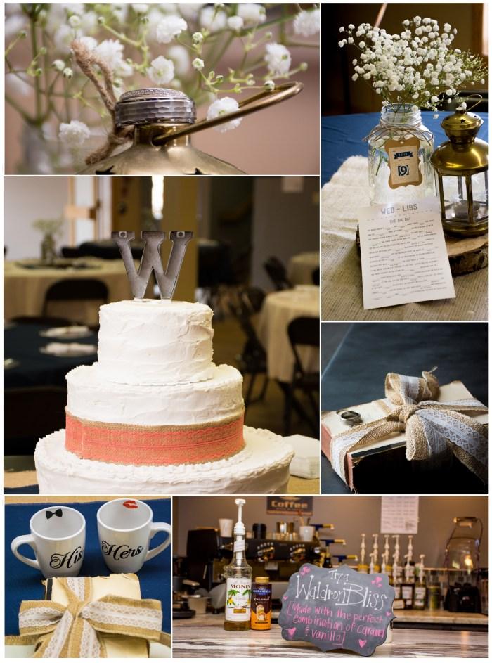 rustic wedding details rim rock church wedding