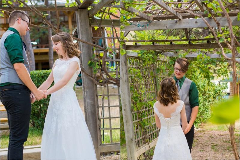 sunshine valley gardens wedding first look