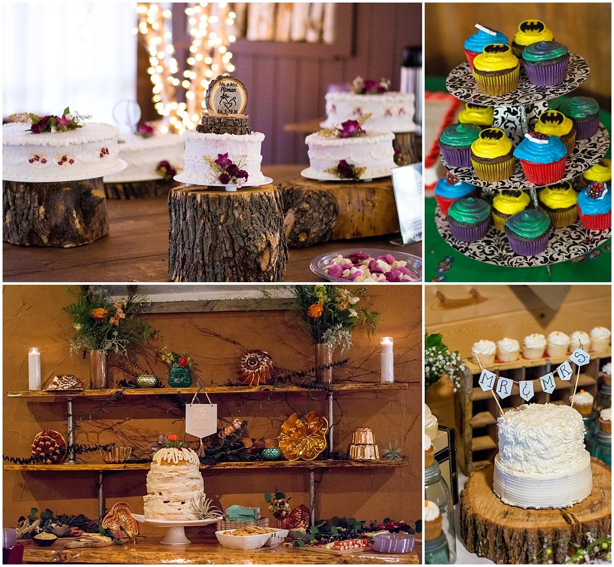 wedding cake marvel cupcake copper boho wedding decor