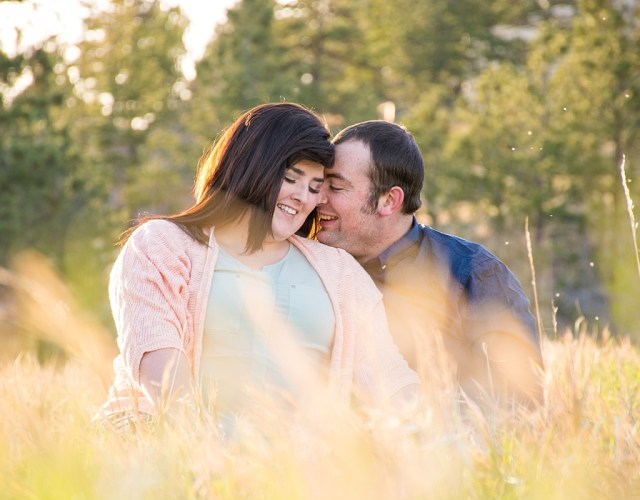 outdoor campus west rapid city south dakota engagement photos 3