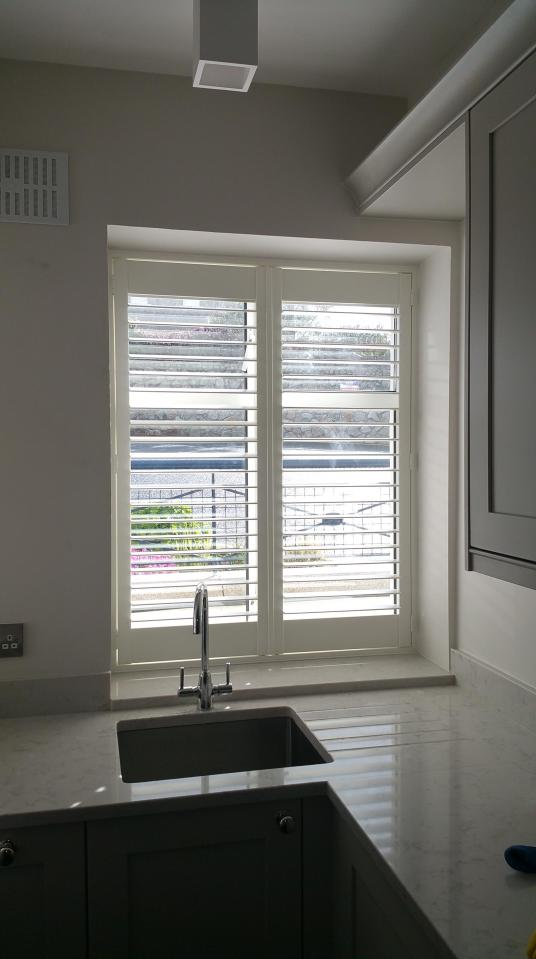 Kitchen Window Plantation Shutters