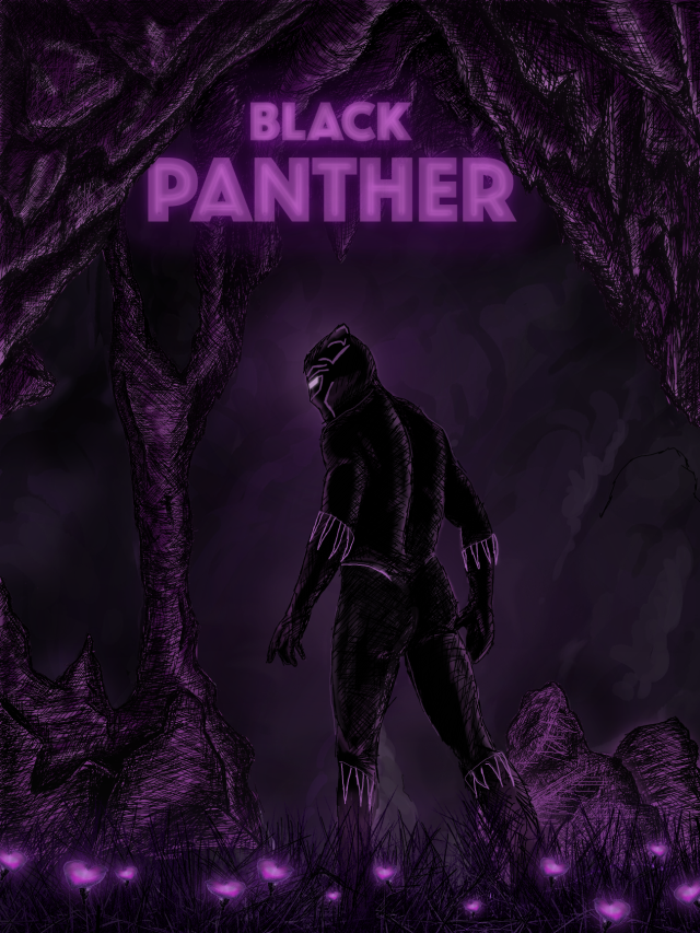 Black Panther concept movie poster