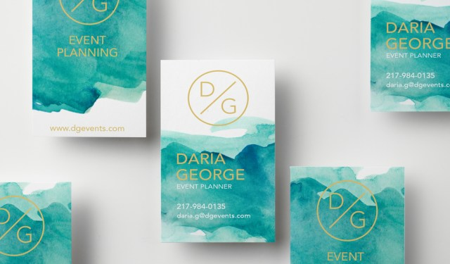 9 Fresh Ideas for Designing Creative Business Cards — Watercolor Contrast