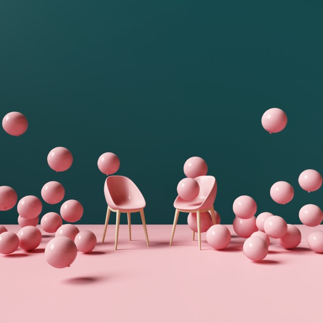 Adding Freelance Work to Resume - Balloons and Chairs Vector