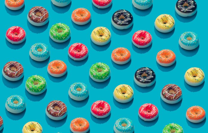 Best Stock Photos for Websites — 25 Top Website-Ready Images — Surreal Repeating Donut Pattern