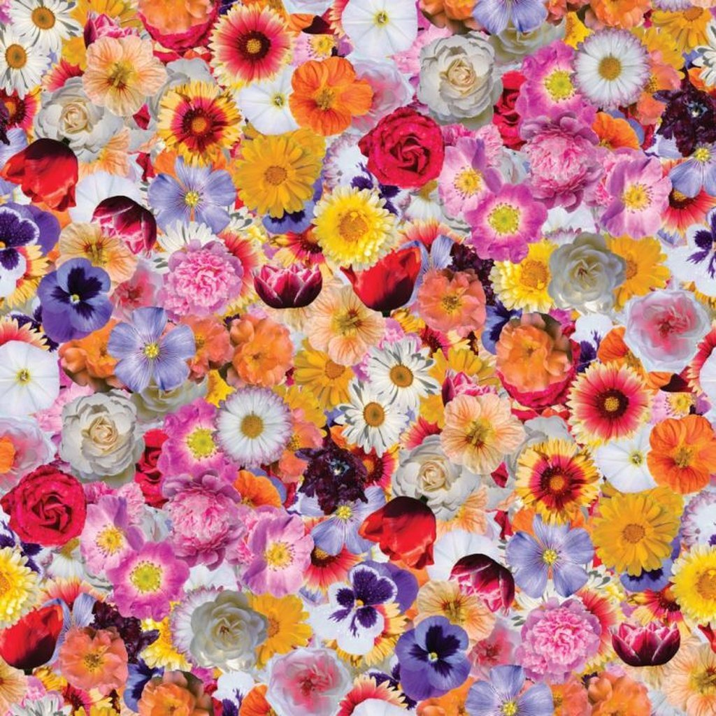 Flower Print Collage