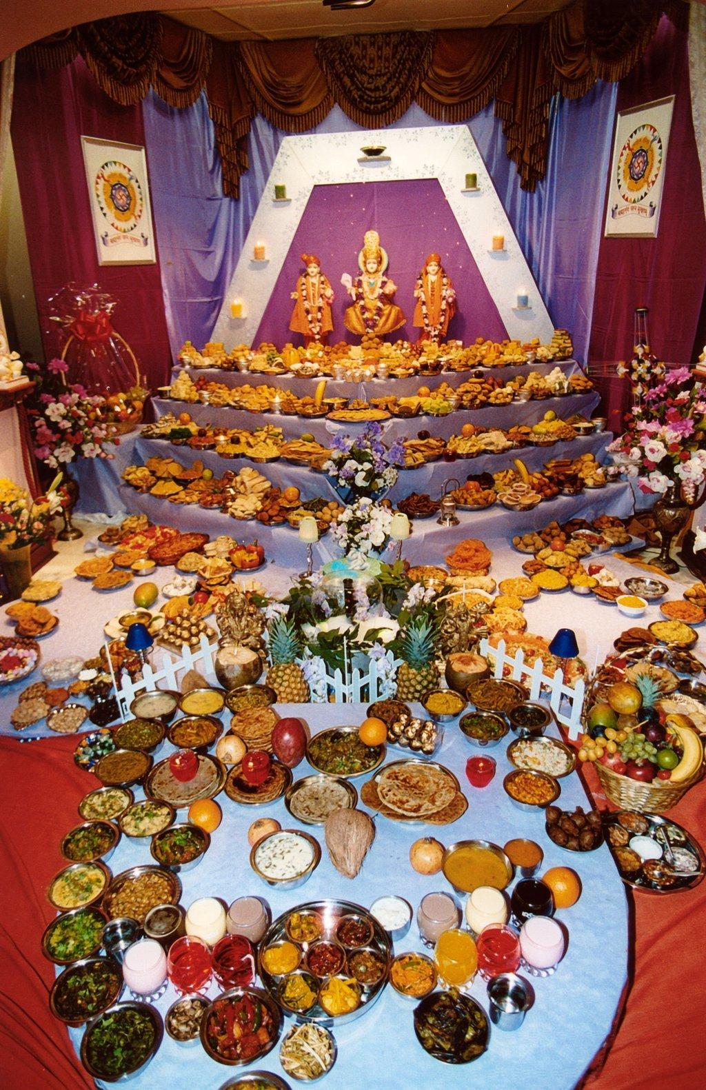 Elaborate Diwali Food Presentation