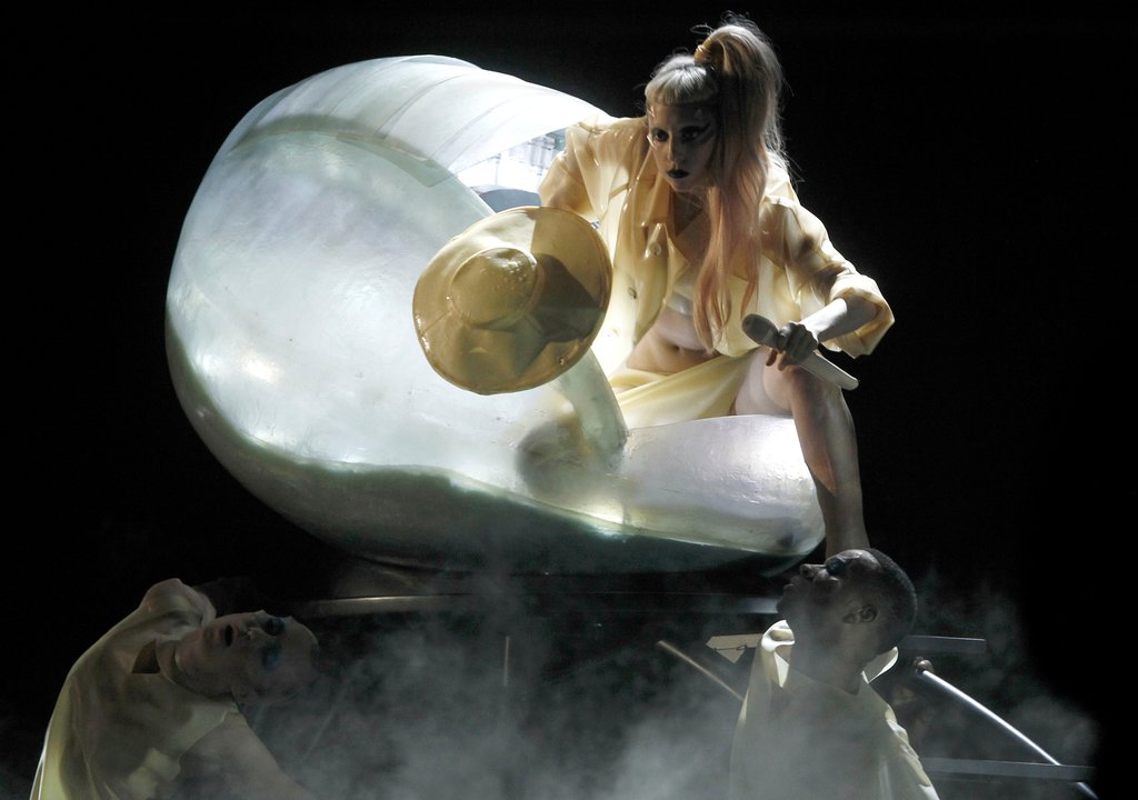 Lady Gaga Performing at the Grammys