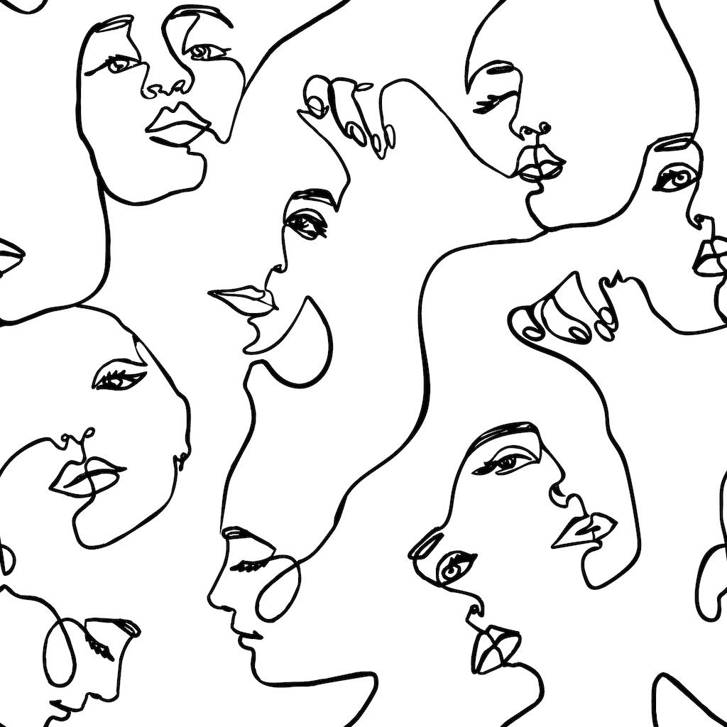 Continuous-Line Faces