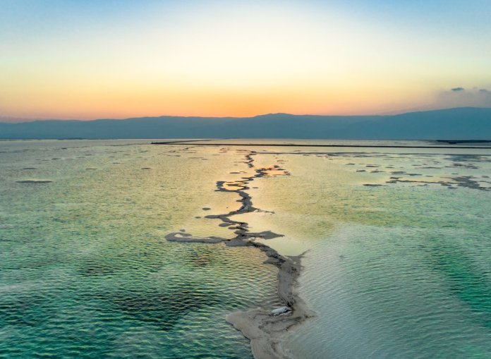Dead Sea and Mountains