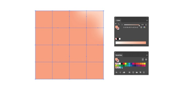Illustrator網格工具 | 多用途的螢光漸變讓您的設計活力滿滿