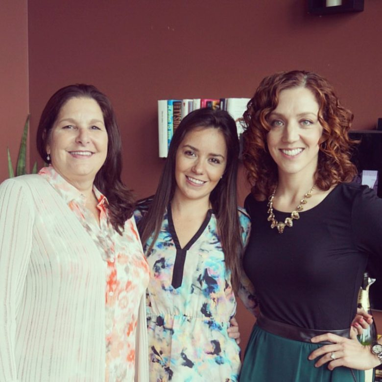 Theresa, Hayley + me -- an amazing bridal shower planning team!