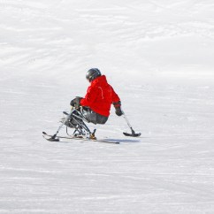 Wheelchair Skiing Rattan Basket Chair Without Barriers Val D 39isère For Disabled Skiers