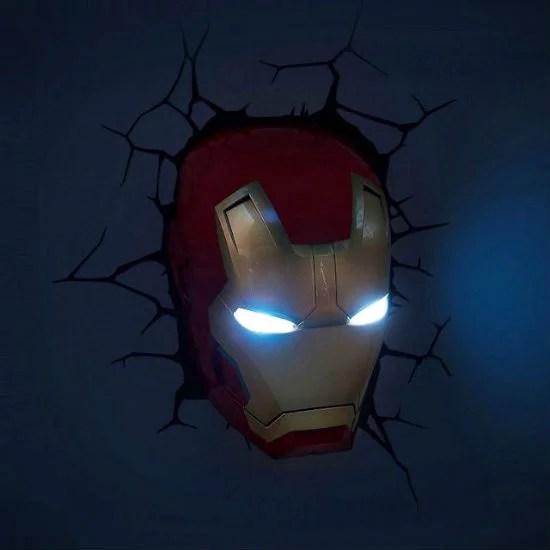 3D Iron Man Wall Light