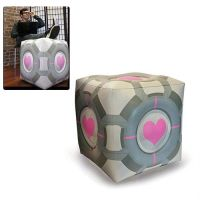 Inflatable Companion Cube Ottoman - Shut Up And Take My Money