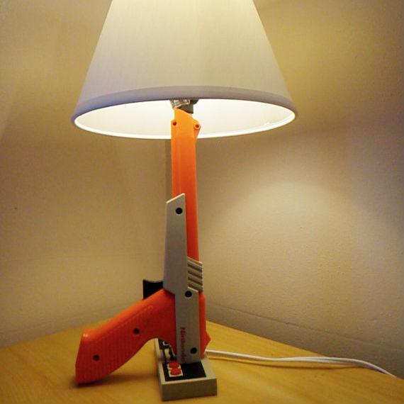 Nintendo Zapper Gun Lamp
