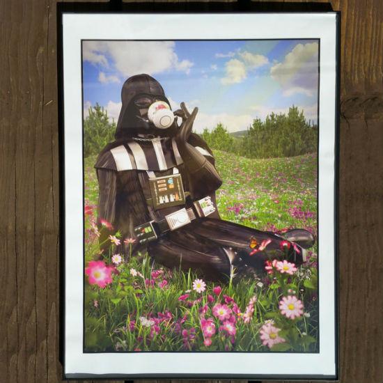 Darth Vader Sipping Tea Poster
