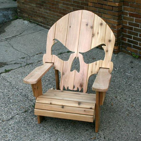 Wooden Skull Chair  Shut Up And Take My Money
