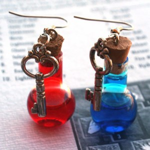 Health and Mana Potion Earrings Shut Up And Take My Yen : Anime & Gaming Merchandise