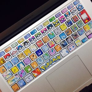 Pokemon Keyboard Stickers Mac Decals Shut Up And Take My Yen : Anime & Gaming Merchandise