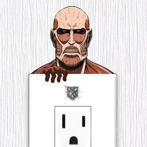 Colossal Titan Wall Outlet Sticker Shut Up And Take My Yen : Anime & Gaming Merchandise