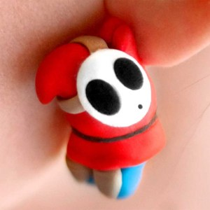 Super Mario Shy Guy Earrings