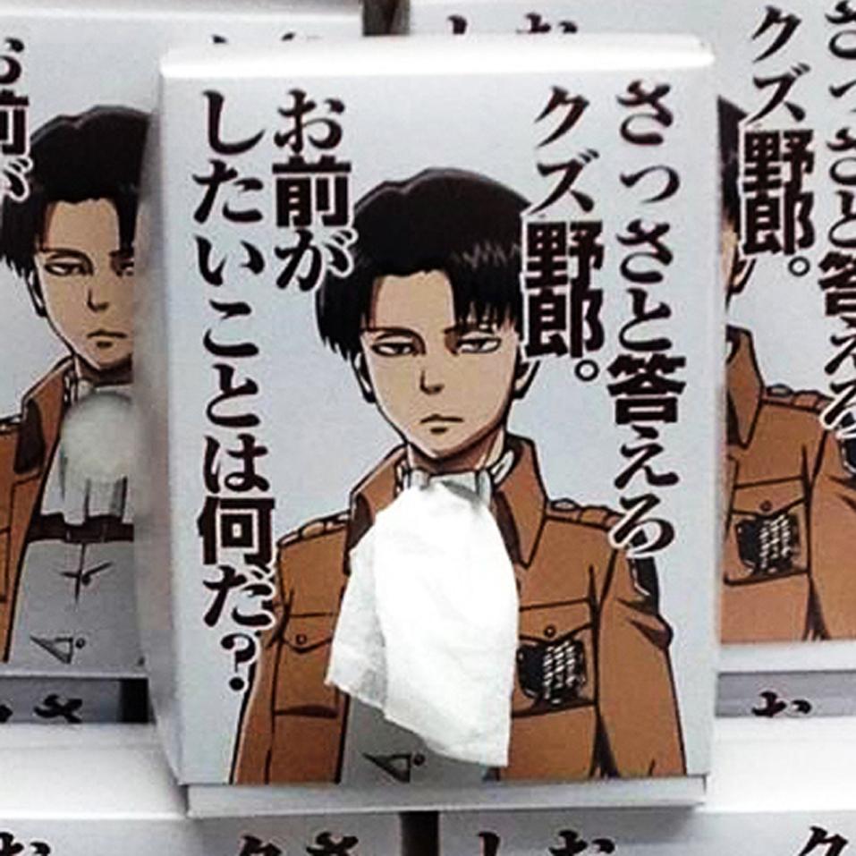 Attack On Titan Levi Tissue Box