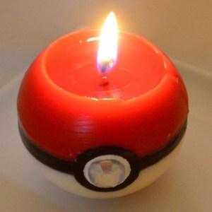 Pokeball Candle