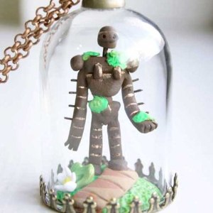 Castle In The Sky Robot Necklace