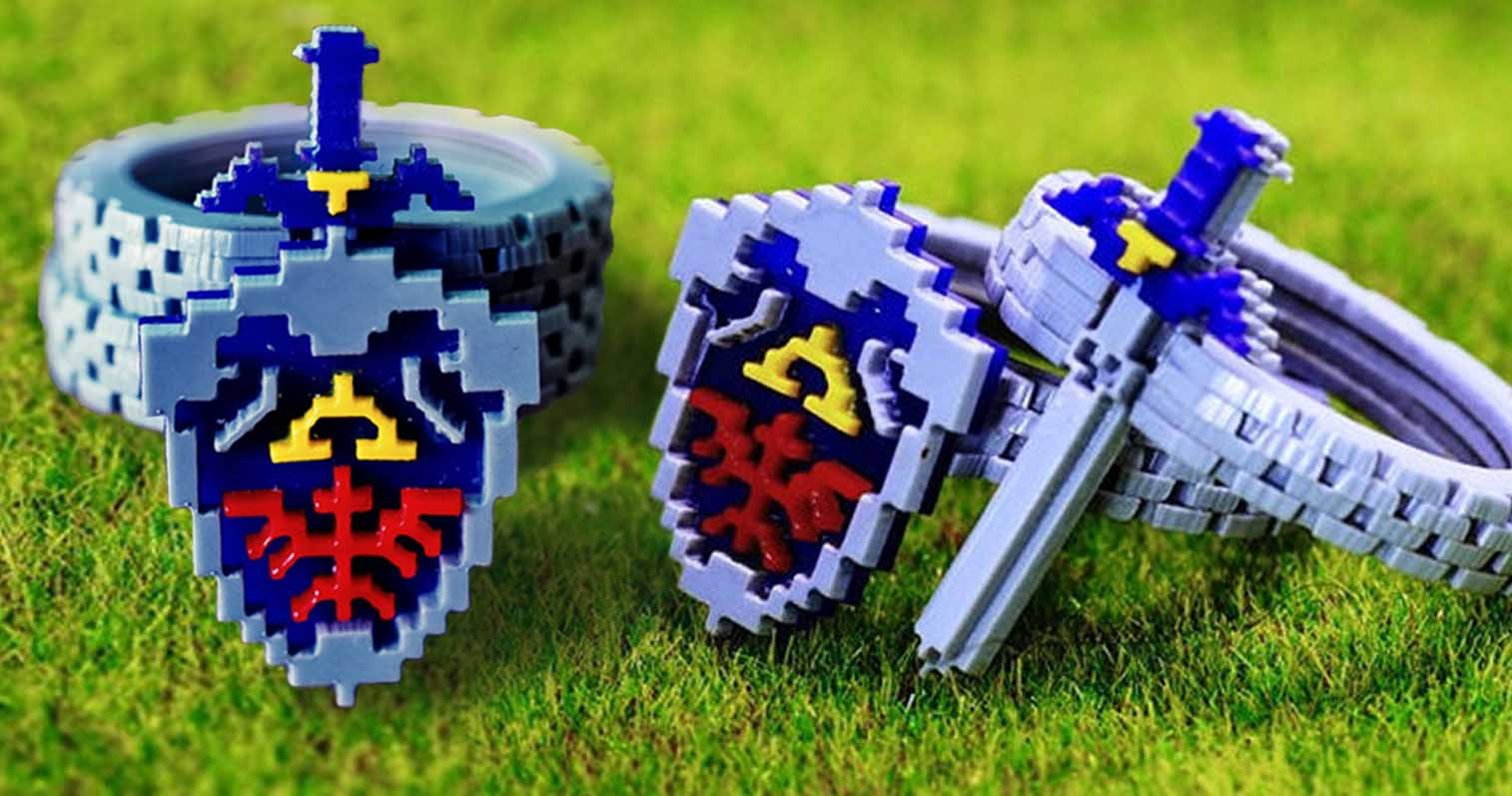 Legend Of Zelda 8 Bit Ring Set Shut Up And Take My Yen