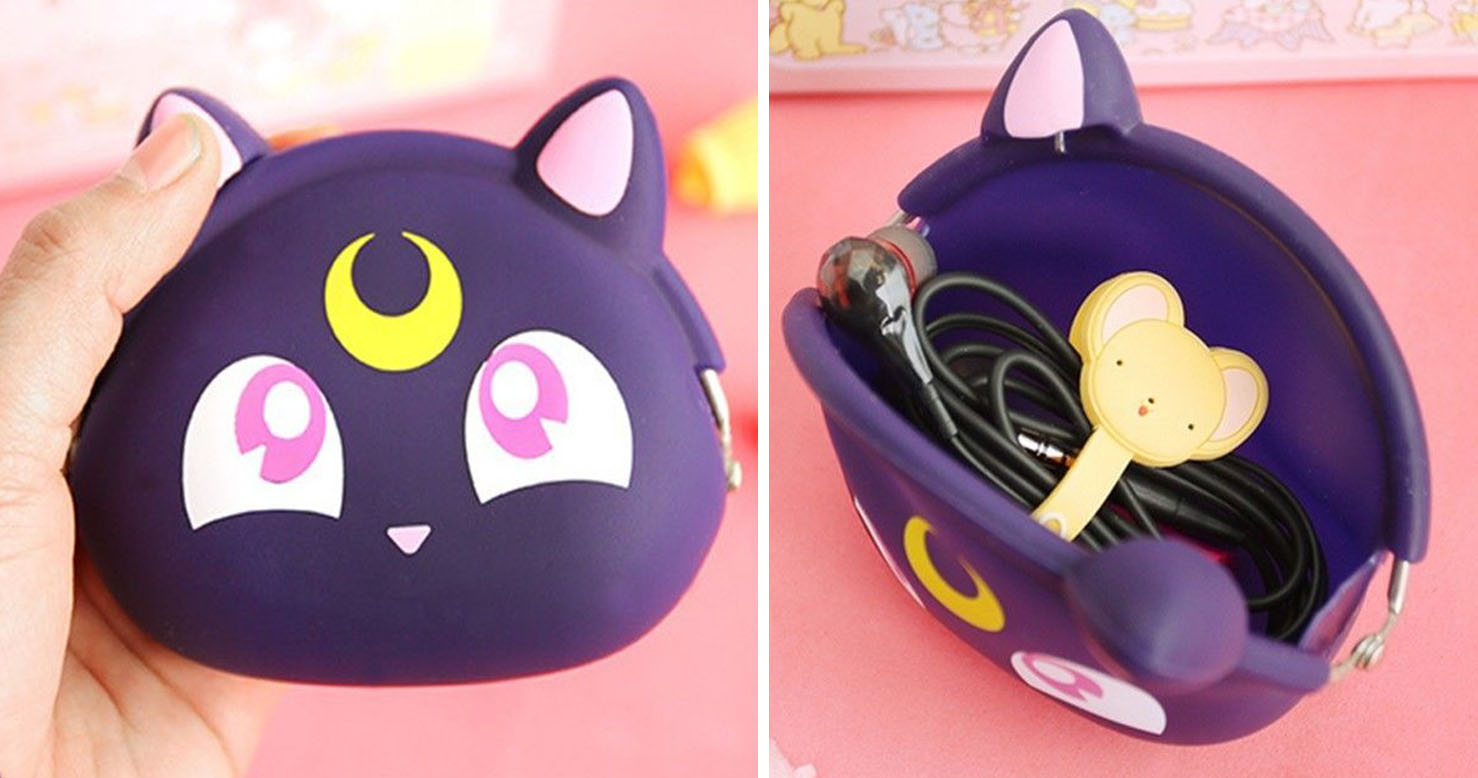 cute kitchen aprons brandsmart appliance packages sailor moon luna coin purse - shut up and take my yen