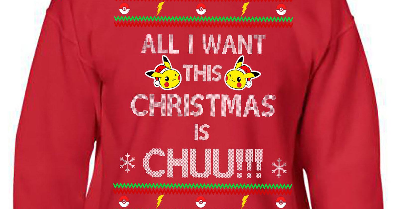 Ugly Pikachu Christmas Sweater - Shut Up And Take My Yen