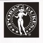 Pork Dukes Girl Sticker