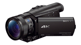 "Sony 4K Camcorder with 1"" sensor"