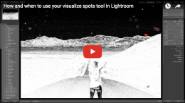 How and when to use your visualize spots tool in Lightroom