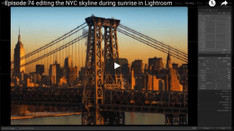 Editing a sunrise in New York City