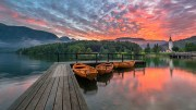 Bohinj lake at sunset