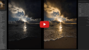 How to edit a beautiful sunrise on the beach