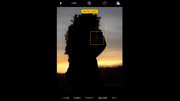 How to shoot a sunset silhouette on iPhone
