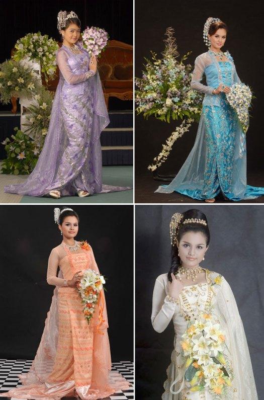 Myanmar Traditional Wedding Dresses - All Things Myanmar ...