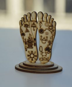 Lord Chaitanya lotus feet statue